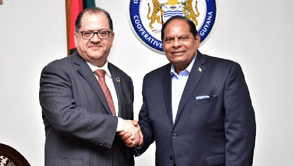 High-Level UN Official Holds Talks With Guyana's Prime Minister, Moses Nagamootoo