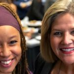 The Chair of the official, newly-formed NDP Black Caucus, Dr. Laura Mae Lindo (left), and NDP and Official Opposition Leader, Andrea Horwath, who made the announcement of the formation of the Party's Black Caucus on Monday.
