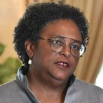 "Barbados Prime Minister, Mia Mottley, announced that some of the Canadian companies she met with, ""want to participate, with Barbadians in Barbados, to be able to be part of the medical cannabis sector, and we made it very clear that yes, we welcome"" them. Photo credit: FP/BGIS."
