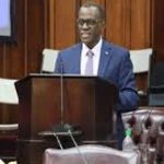 St. Lucia Opposition Leader, Phillip J. Pierre, responding to the Prime Minister's budget presentation. Photo credit: CMC.