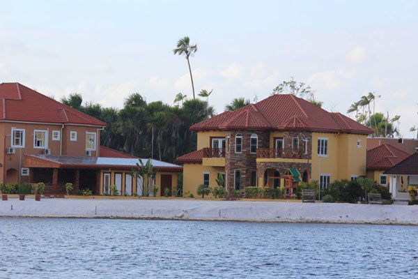 One of the many opulent Madewini Estates mansions. Photo by Joel Cole.