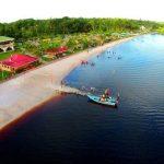 An aerial view of Splashmins' beach area. Photo courtesy of Splashmins.
