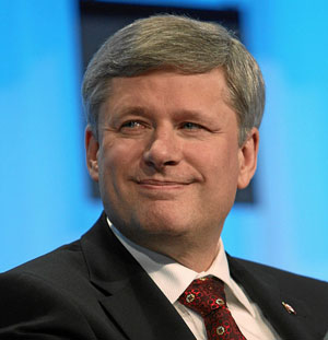 In 2005, Stephen Harper was threatened with a lawsuit by then-prime minister Paul Martin. A few months later, the threatened lawsuit was seemingly forgotten and Harper was elected prime minister. Photo by World Economic Forum - Remy Steinegger - CC BY-SA 2.0.