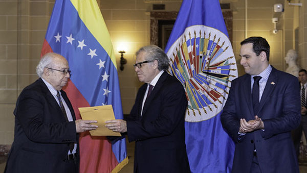 New US-favoured Venezuelan Diplomat Presents Credentials To Organisation Of American States