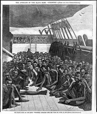 The Africans of the slave bark. Image credit: Library of Congress.