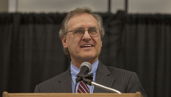 Stephen Lewis seen speaking at a public event on April 17, 2009. Photo by Gordon Griffiths - AIDS-Free World - Own work, CC BY-SA 3.0.