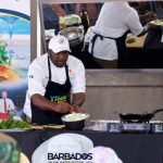 One of the chefs cook up a Barbadian culinary delight for the audience to taste at last year's Barbados on the Water Festival. Photo courtesy of Barbados Tourism Marketing Inc.