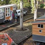 Tiny houses on display during Build Small Live Large 2017 in Portland, Oregon. Photo by DanDavidCook - Own work, CC BY-SA 4.0, https://commons.wikimedia.org/w/index.php?curid=64072087
