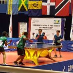 Jamaicans Tsenaye Lewis and Azizi Johnson (foreground) in action against Puerto Rico. Photo contributed.