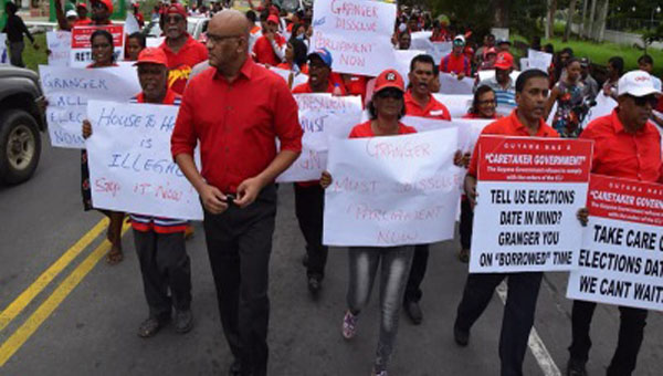 Guyana's Main Opposition Party Stages Protest In Support Of Fresh Elections