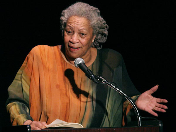 "Toni Morrison -- who endorsed Barack Obama in 2008 --  seen speaking at ""A Tribute to Chinua Achebe -- 50 Years Anniversary of 'Things Fall Apart'"", held at The Town Hall in New York City, on February 26, 2008. Photo by Angela Radulescu - Toni_Morrison_2008.jpg, CC BY-SA 2.0, https://commons.wikimedia.org/w/index.php?curid=5526016."