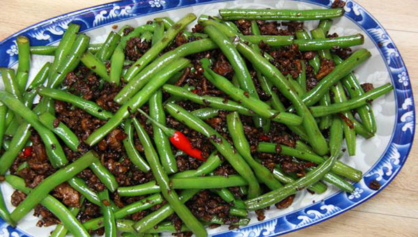 Chinese-Influenced, Stir-fry Green Beans With Chicken