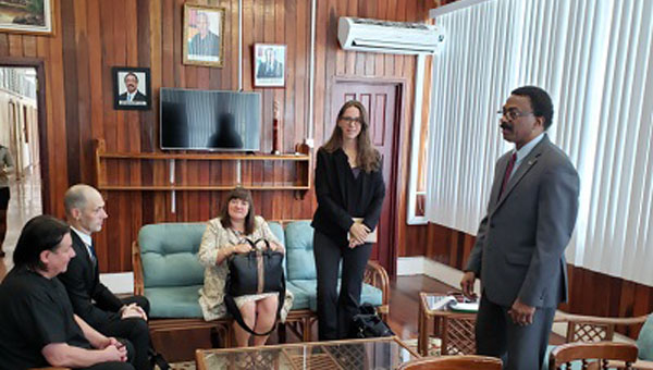 US-Based Carter Centre Officials On A Visit To Guyana