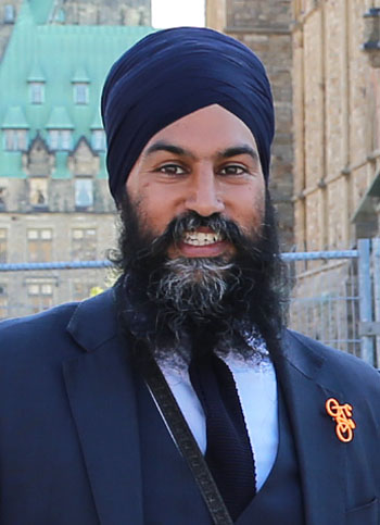 Jagmeet Singh, leader of the New Democrats and the first person of colour to lead a major Canadian political party, has said the fallout from the Trudeau blackface scandal should lead to a wider discussion about racism. Photo credit: Yvonne Bambrick - https://www.flickr.com/photos/yvonnebambrick/42481105871/, CC BY-SA 2.0.