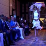 Nigerien models displaying Caribbean fashions. Photo credit: CMC.