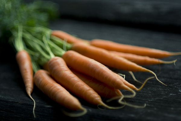 Carrots are a great source of beta carotene. Photo credit: Jonathan Pielmayer/Unsplash.