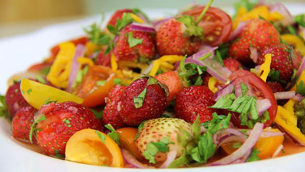 Strawberry Chow (Spicy Pickle Salad) Recipe