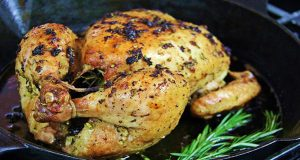 Simple Garlic Rosemary Roasted Chicken Recipe