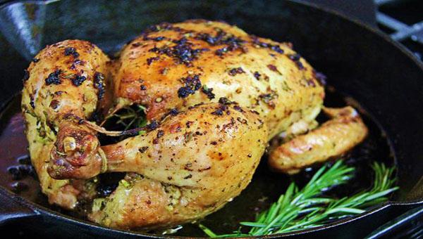 Simple Garlic Rosemary Roasted Chicken Recipe