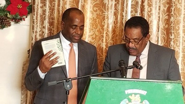 Newly Re-elected Dominican Prime Minister, Roosevelt Skerrit Sworn Into Office