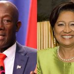 Trinidad and Tobago Prime Minister, Dr. Keith Rowley (right), and Opposition Leader, Kamla Persad Bissessar.