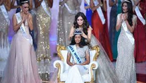 Singh, who also won the Best Talent prize, being crowned, as Miss World, last night.