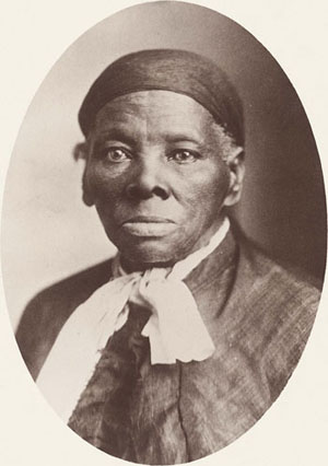 A photograph of Harriet Tubman, by Tabby Studios in Auburn, NY -- Public Domain.