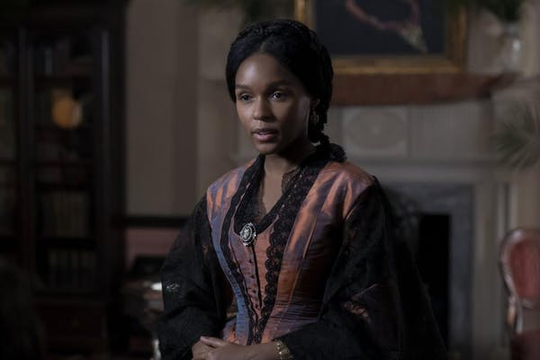 Janelle Monáe as Marie Buchanon, a free black woman, who helps Harriet Tubman transition into life after slavery. Photo credit: Focus Features.
