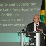 United States Ambassador to Jamaica, Donald Tapia, addresses a cybercrime and cybersecurity workshop at the Hilton Resort and Spa in Montego Bay, Jamaica, recently. Photo credit: Garwin Davis/JIS.