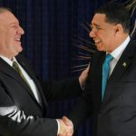 Jamaica Prime Minister, Andrew Holness (right), shares a light moment with United States (US) Secretary of State, Michael Pompeo, following a joint press conference, held at the Office of the Prime Minister on Wednesday. Photo credit: Michael Sloley/JIS.