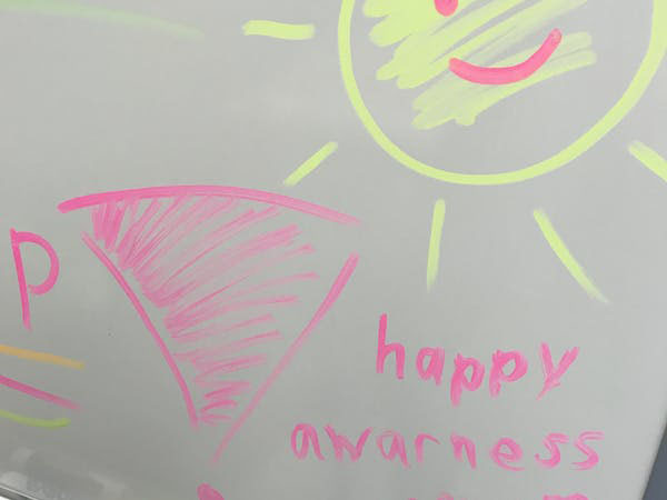 One youth suggested we re-name our program the 'Happy Awareness Program.' Photo credit: Diana Coholic.