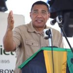 Prime Minister, Andrew Holness, delivers the keynote address at the 65th Hague Agricultural and Industrial Show in Falmouth, Trelawny, on February 26. Photo Credit: Garwin Davis/JIS.
