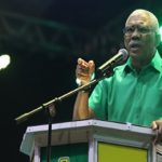 Guyana's President, David Granger, campaigning, ahead of the March 2 elections.