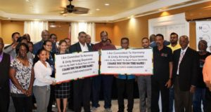 Political Parties In Guyana Sign Code Of Conduct Election's Campaigning Behaviour
