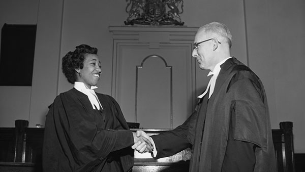 Violet King was the first Black Canadian to obtain a law degree in Alberta; the first Black person admitted to the Alberta Bar; and the first Black woman to become a lawyer in Canada. Photo courtesy of Glenbow Archives/NA-5600-7760a.