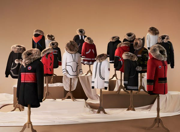 Few fashion labels acknowledge the history of sportswear as having Indigenous or African-American roots. Project Atigi at Canada Goose works with Inuit seamstresses to create bespoke parkas. Photo credit: Canada Goose.