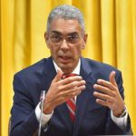 Bank of Jamaica Governor, Richard Byles, addressing media, during a virtual press conference, yesterday. Photo credit: Yhomo Hutchinson/JIS.