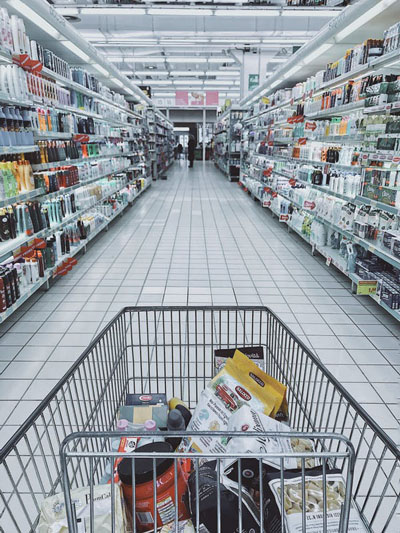 Stay home if you can. But if you use a shopping cart, wipe it down with disinfecting solution and clean your hands afterwards. Photo credit: Pexels.