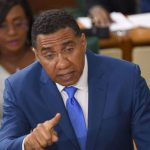 Jamaica's Prime Minister, Andrew Holness, emphasises a point, while making his contribution to the 2020/21 Budget Debate, in the House of Representatives, yesterday. Photo credit: Rudranath Fraser/JIS.