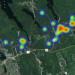 African-Canadian communities in Nova Scotia use community green spaces like parks, parking lots and other open spaces to gather, celebrate and strengthen community ties. This intensity map of North Preston shows where residents spent time in community green spaces. Illustration credit: Author Richard le Brasseur provided.