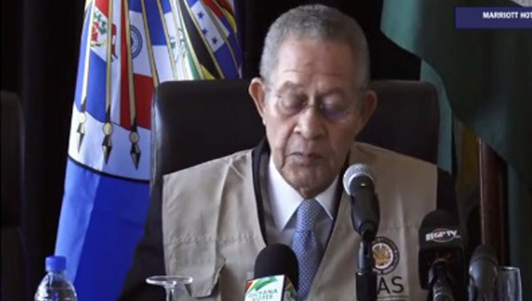 "OAS Commends Guyanese Voters For ""Strong Democratic Commitment""; But Concerned Over A Number Of Issues"