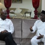 Trinidad and Tobago's Prime Minister, Dr. Keith Rowley (left), met with Ghana's Minister of Aviation, Joseph Kofi Adda, yesterday, in Accra, Ghana.
