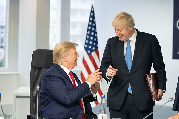 Did world leaders, like Britain's Prime Minister, Boris Johnson, and US President, Donald Trump -- seen together at the G7 summit in Biarritz in southwest France, in August, 2019 -- ignore early COVID-19 warnings? Photo credit: The White House, Washington, DC, Public Domain.