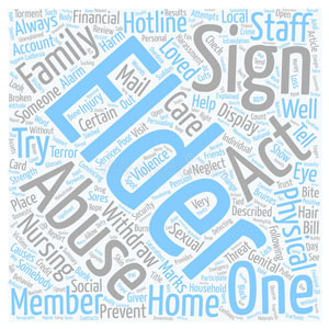 Elder Abuse Prevention -- how-to-spot-elder-abuse-wordcloud