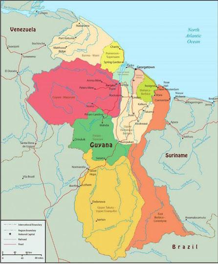 Guyana-regions-map