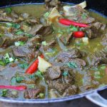Outdoor Fiery Coal-Pot Curry Goat