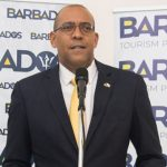 Barbados' Minister of Tourism and International Transport, Kerrie Symmonds, announced that the country's Grantley Adams International Airport will remain closed until June 30. Photo credit: FP.