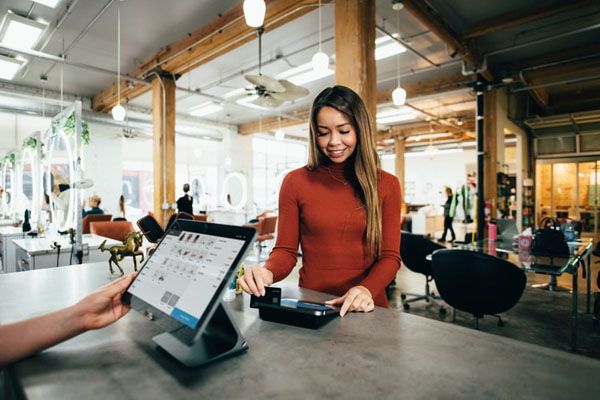 Making credit card and Interac payments available can also help increase a business's cash flow. Photo credit: Blake Wisz/Unsplash.