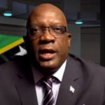 St. Kitts-Nevis Prime Minister, Dr. Timothy Harris, seen addressing the nation. Photo credit: Caribbean Media Corp.
