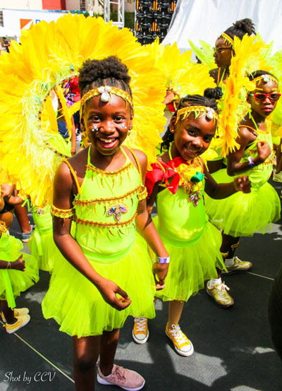 "Happy, excited participants at the New York West Indian Carnival's ""Kiddies' Parade"". Photo credit: CCJ."